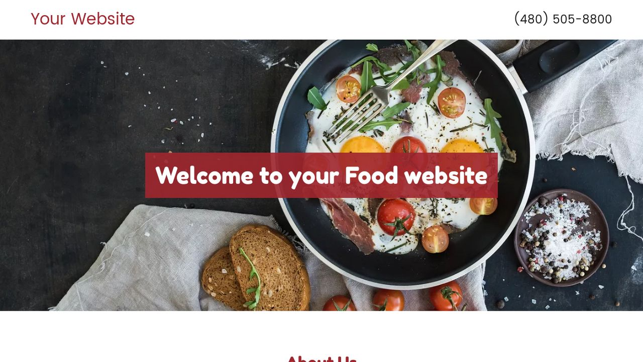 Food website templates godaddy food example 3 forumfinder Image collections