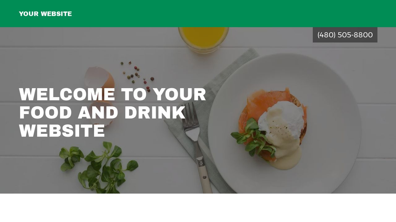 Food and Drink Website: Example 1