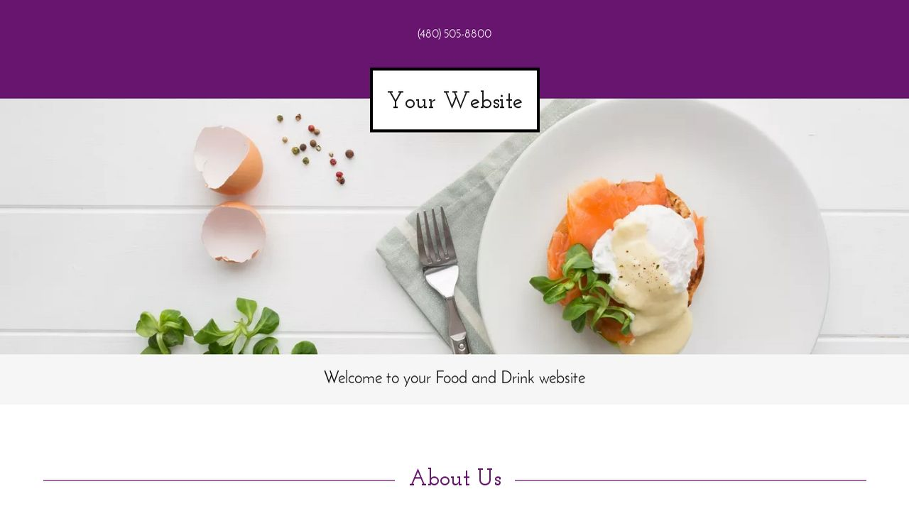 Food and Drink Website: Example 10