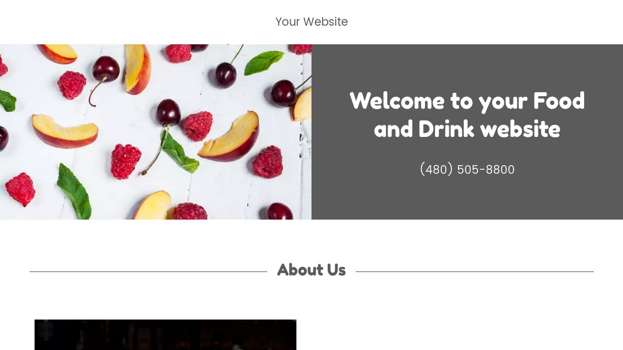 Food and Drink Website: Example 11