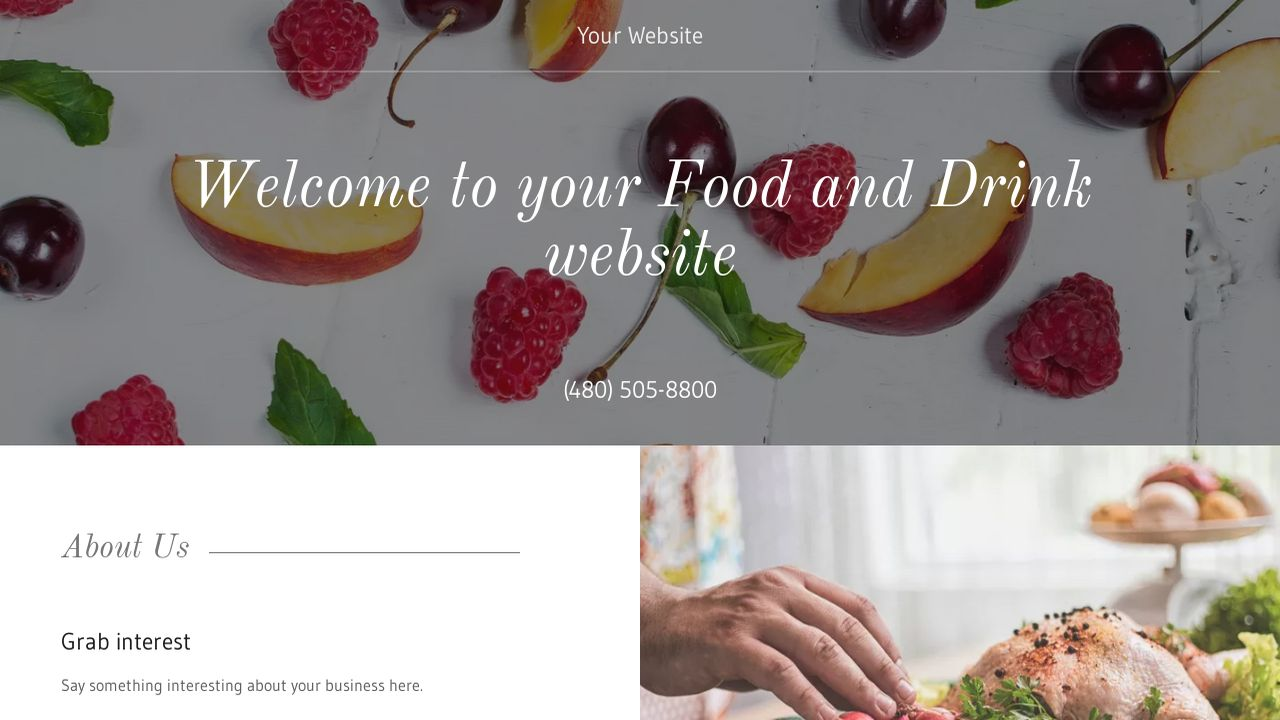 Food and Drink Website: Example 14