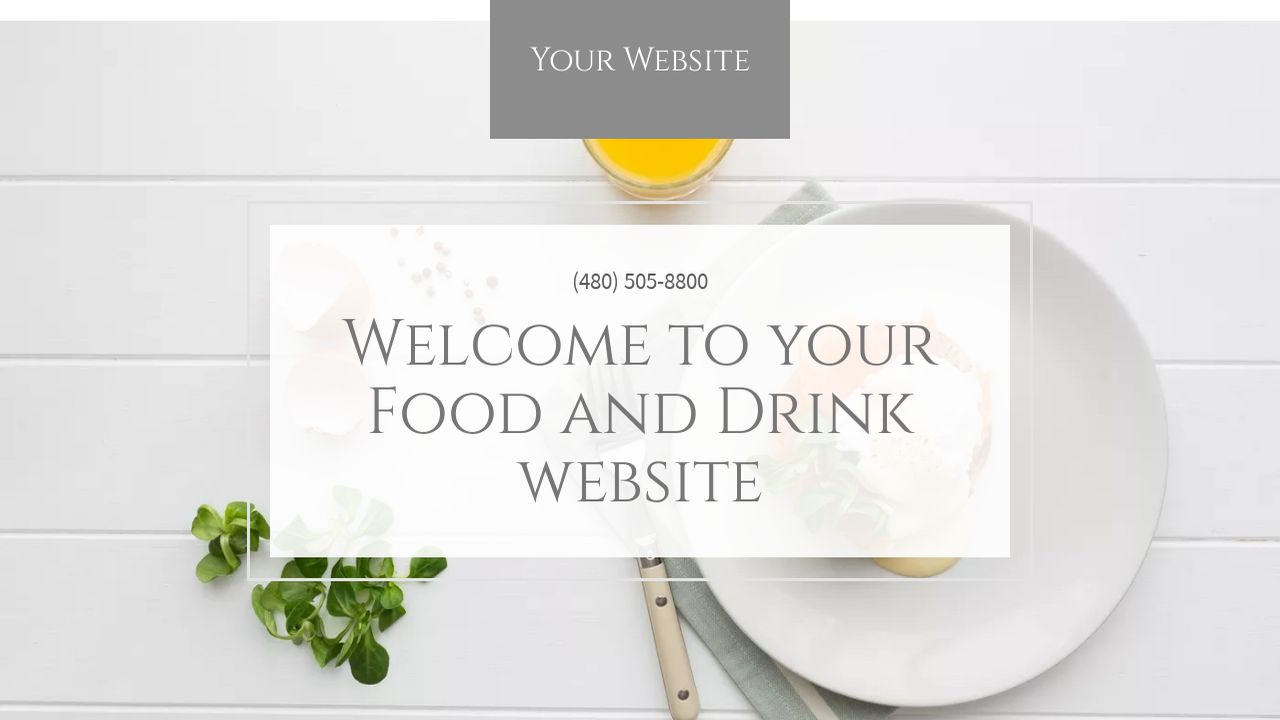 Food and Drink Website: Example 16
