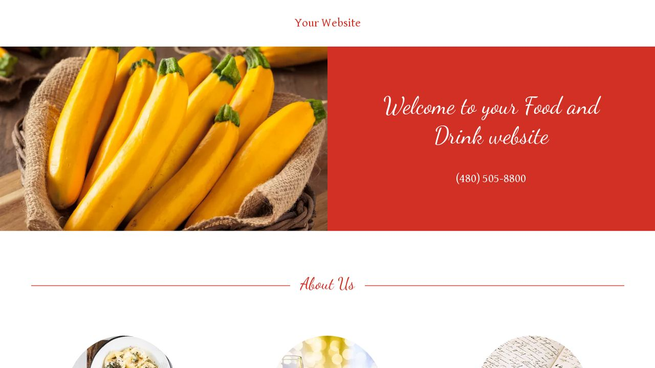 Food and Drink Website: Example 18