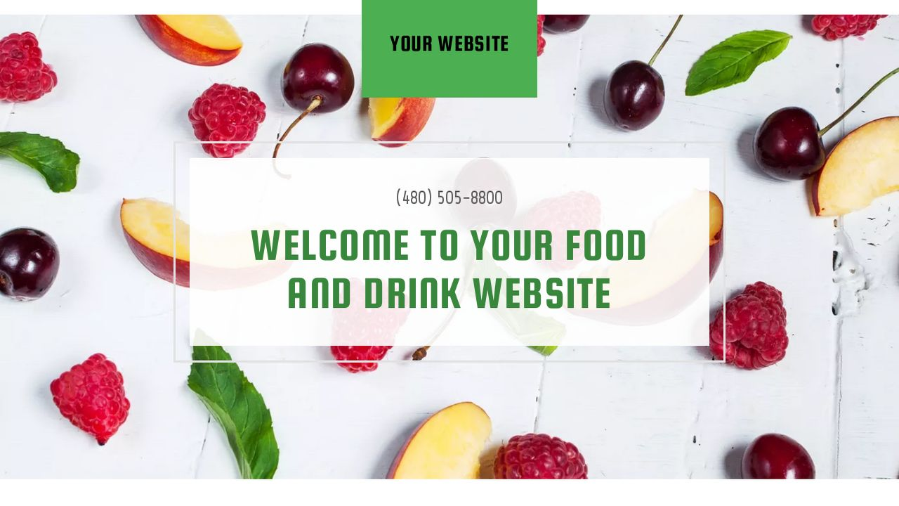 Food and Drink Website: Example 2