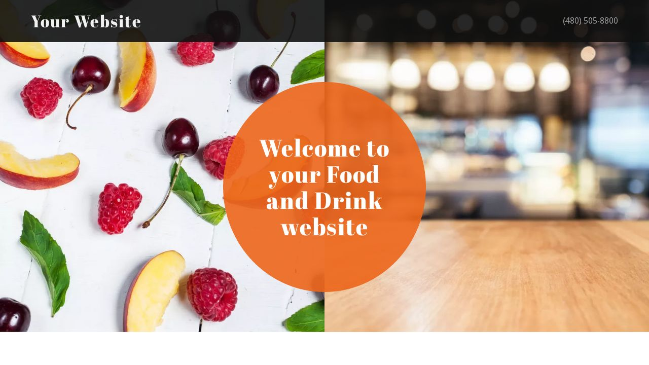 Food and Drink Website: Example 5