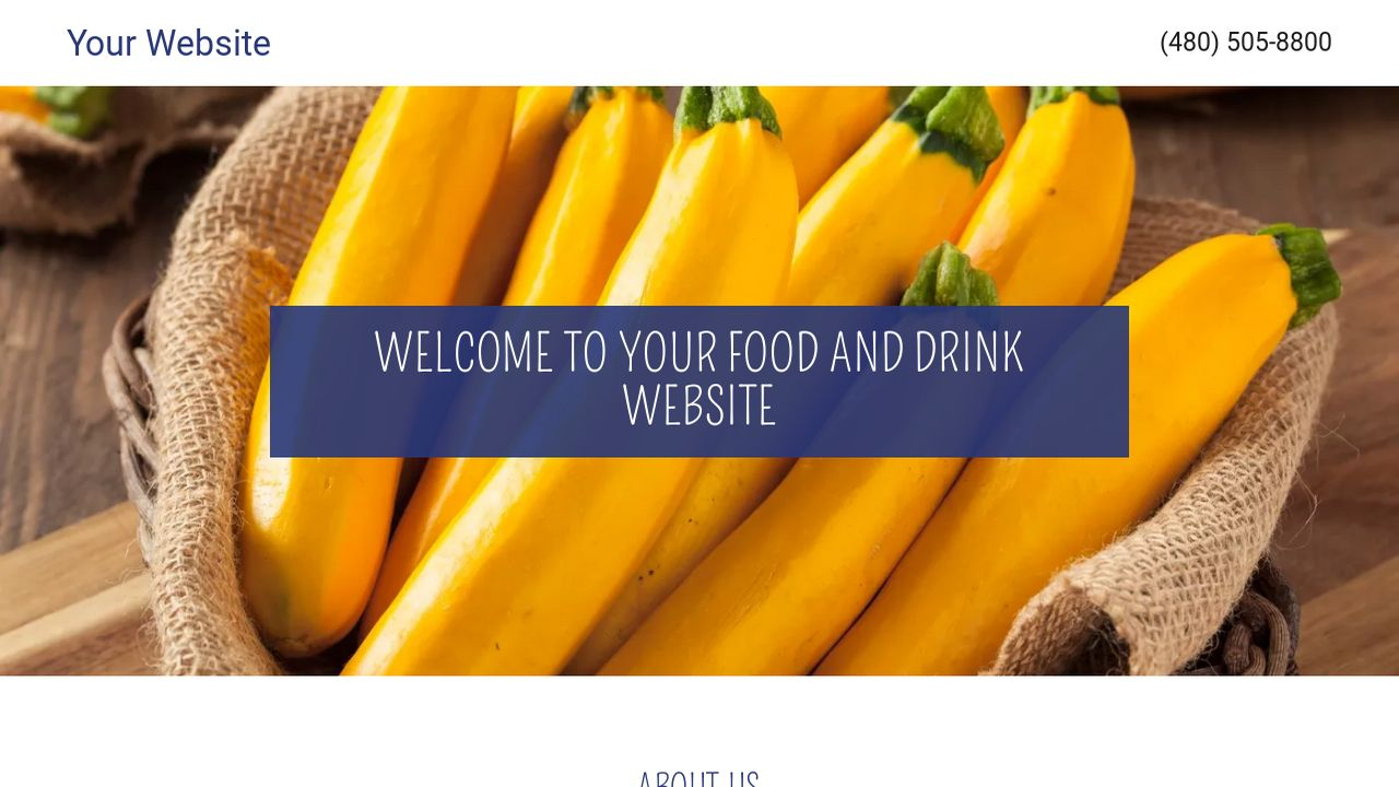 Food and Drink Website: Example 6