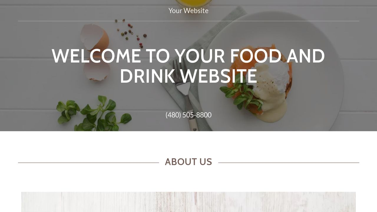 Food and Drink Website: Example 7