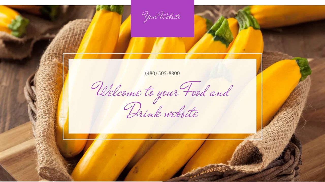 Food and Drink Website: Example 9