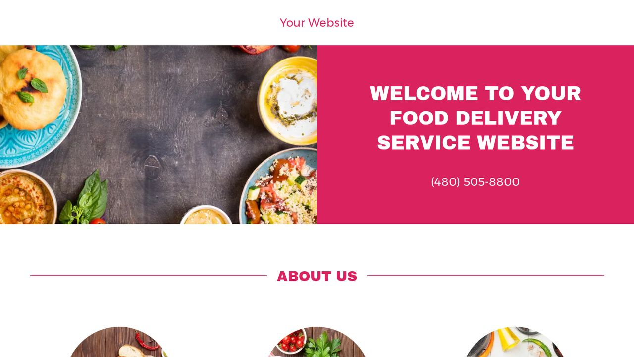 example 1 food delivery service website template godaddy. Black Bedroom Furniture Sets. Home Design Ideas