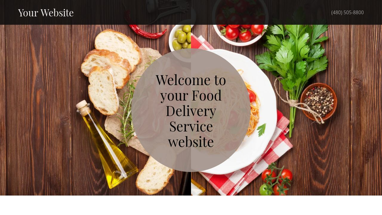 Example 1 food delivery service website template godaddy for Food delivery