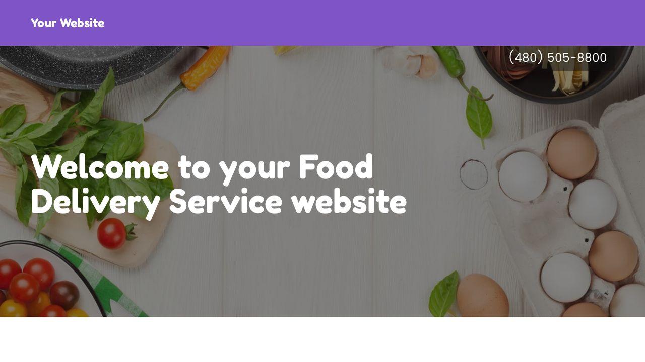 food delivery service website templates godaddy. Black Bedroom Furniture Sets. Home Design Ideas