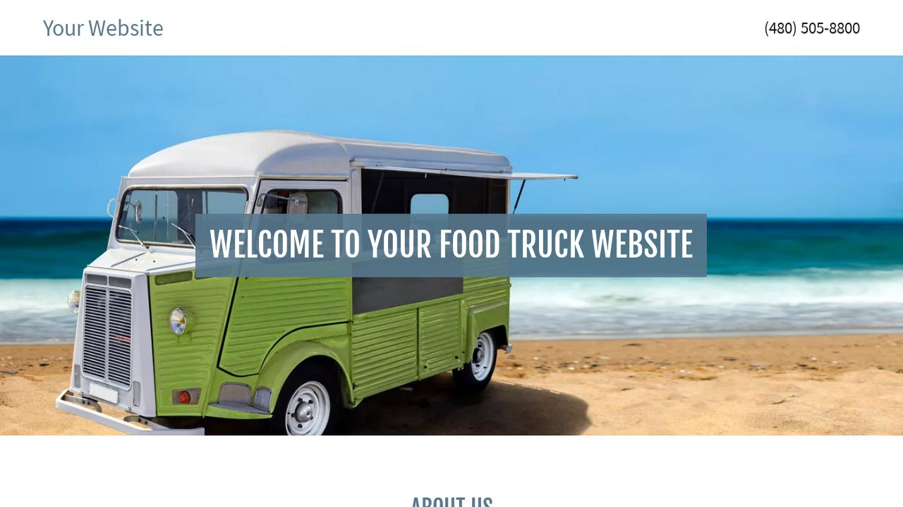Example 18 food truck website template godaddy for Design your own food truck online