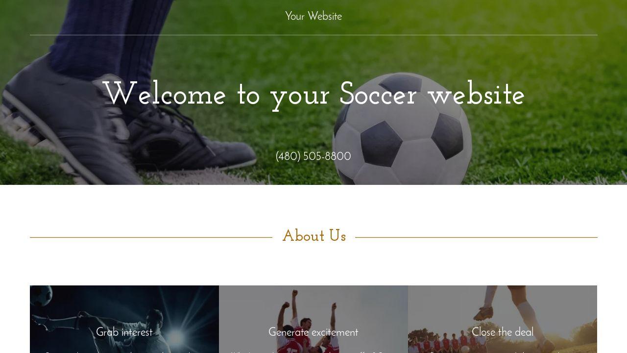 Soccer Website Templates GoDaddy - Soccer website templates