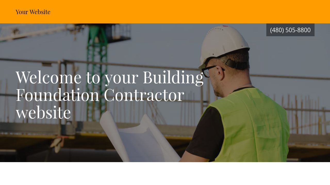 Building Foundation Contractor Website Templates | GoDaddy