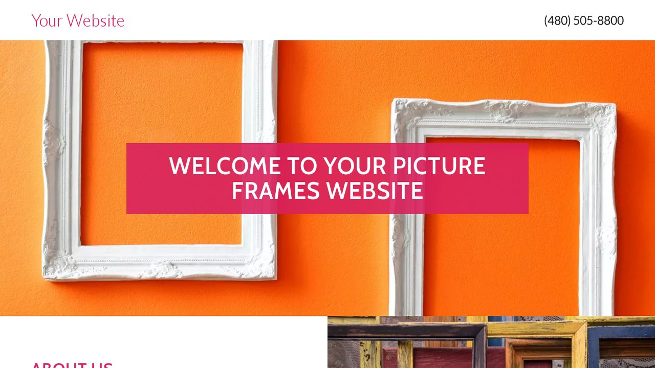 Picture frames website templates godaddy picture frames example 12 jeuxipadfo Choice Image