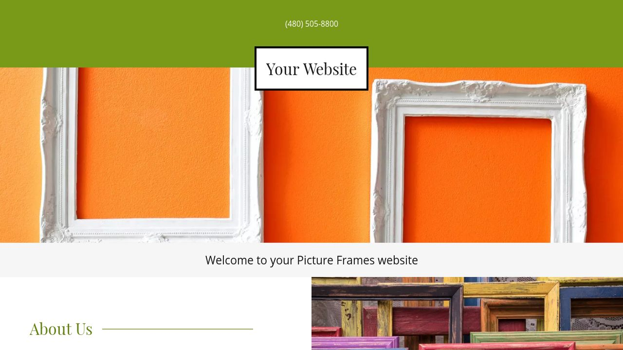 Picture frames website templates godaddy picture frames example 2 jeuxipadfo Choice Image