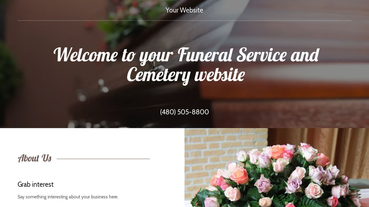 funeral service and cemetery website templates | godaddy, Powerpoint templates