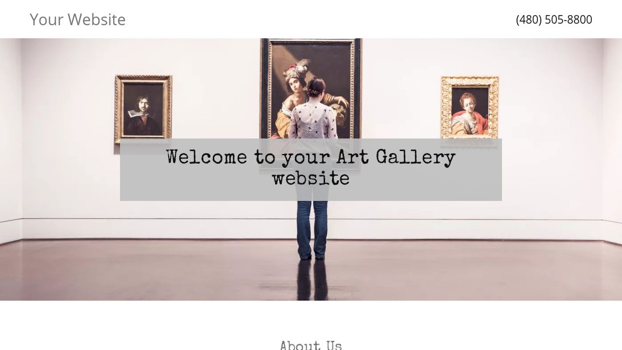 Art gallery website templates godaddy for Websites to sell artwork