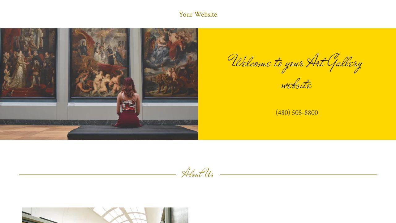 art gallery website templates godaddy. Black Bedroom Furniture Sets. Home Design Ideas