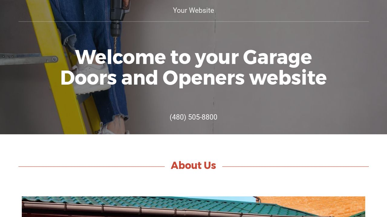 Garage Doors and Openers Ex&le 13  sc 1 st  GoDaddy & Garage Doors and Openers Website Templates | GoDaddy