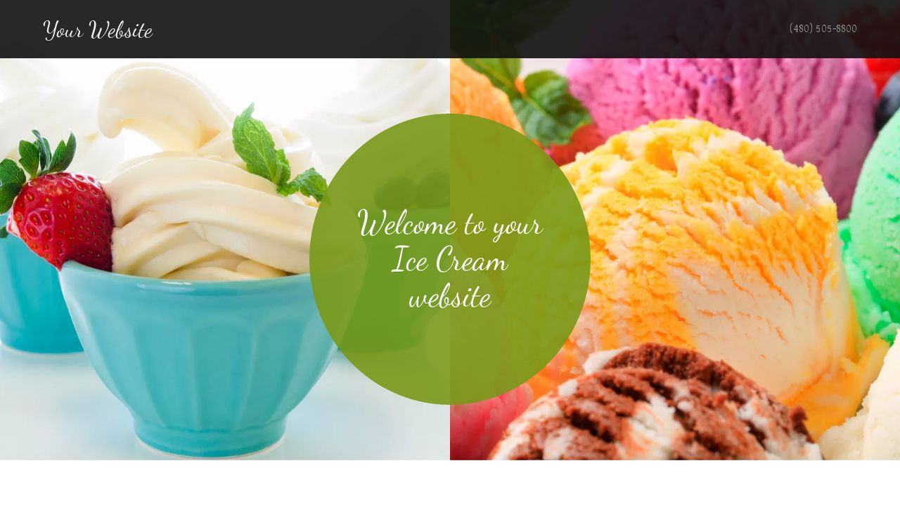 Amazing Ice Cream Website Template Adornment - Example Resume and ...