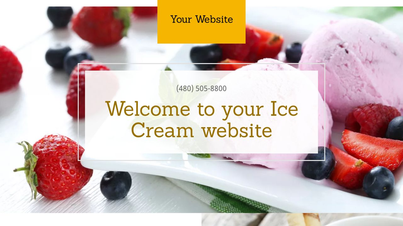 Ice Cream Website Templates | GoDaddy