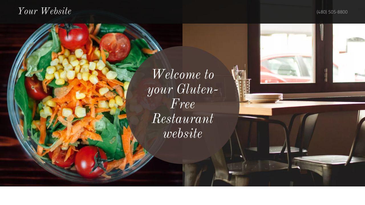 gluten free restaurant website templates godaddy