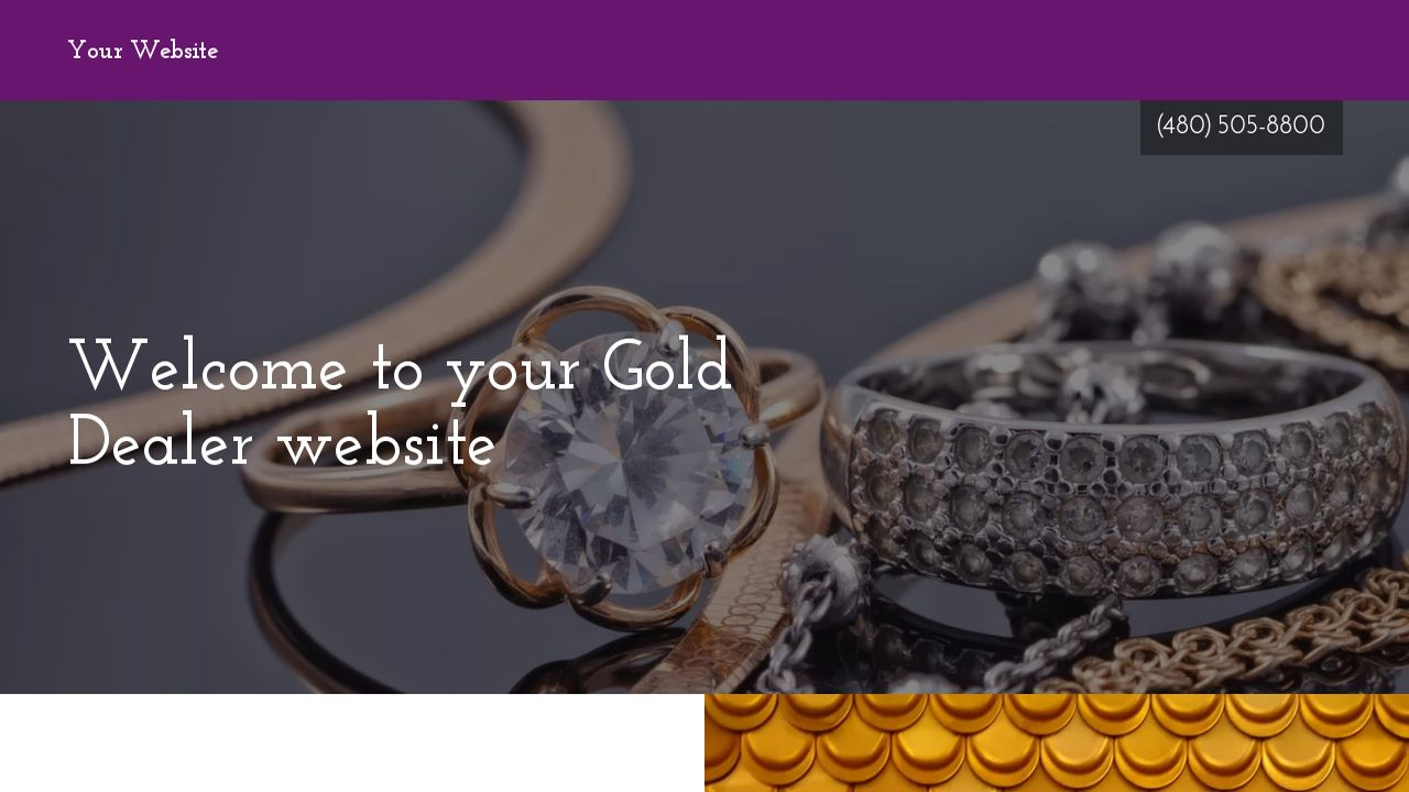 Gold Dealer Website: Example 11