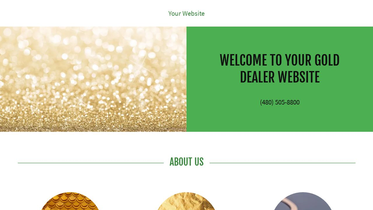 Gold Dealer Website: Example 12