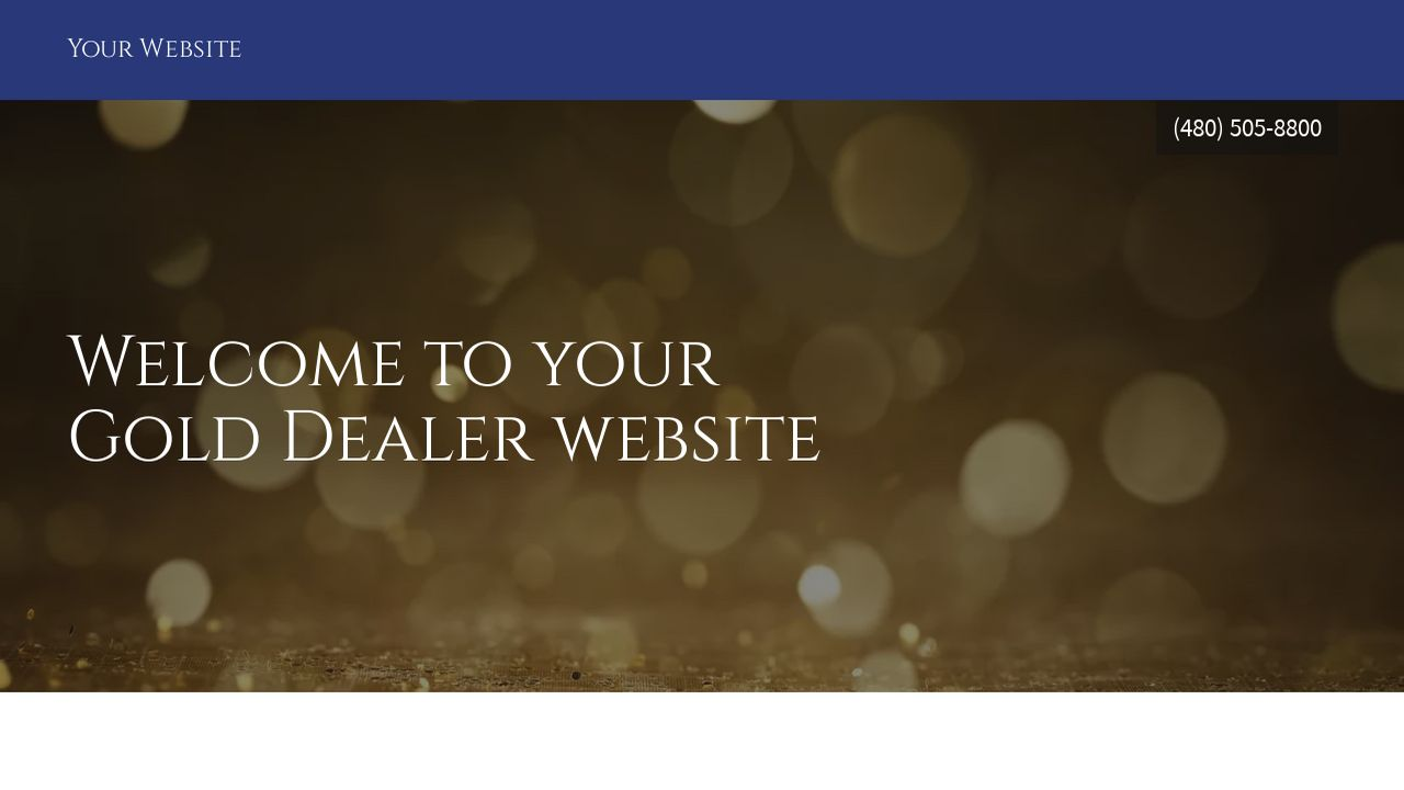 Gold Dealer Website: Example 18