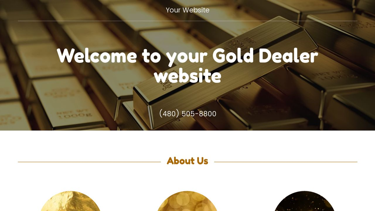 Gold Dealer Website: Example 2