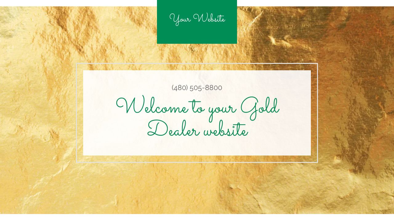 Gold Dealer Website: Example 3