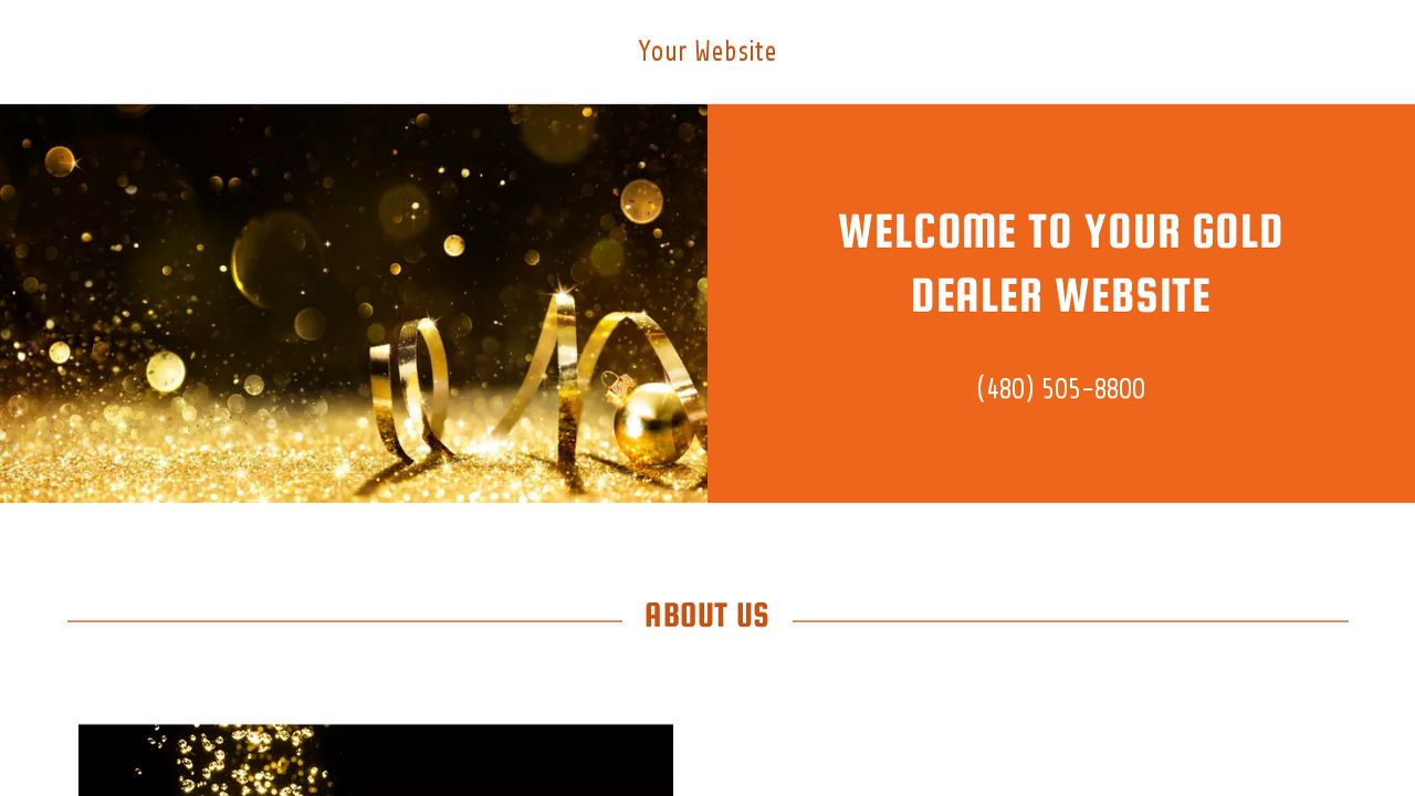 Gold Dealer Website: Example 5