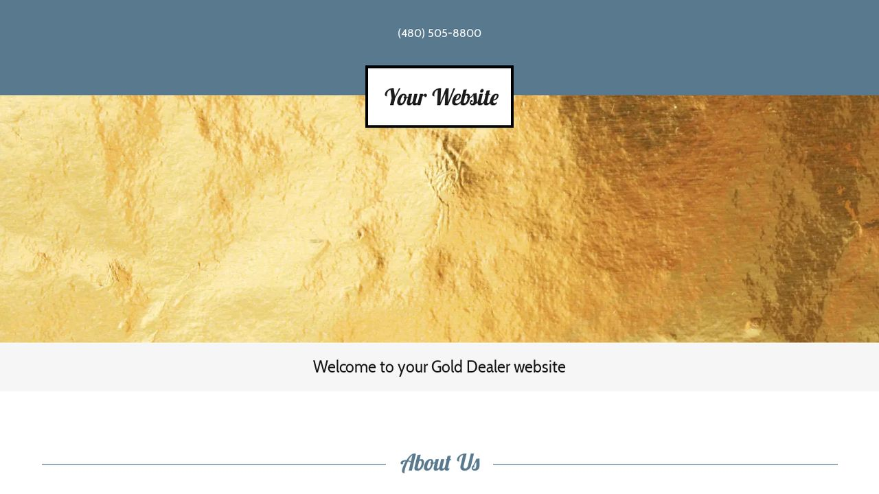 Gold Dealer Website: Example 7