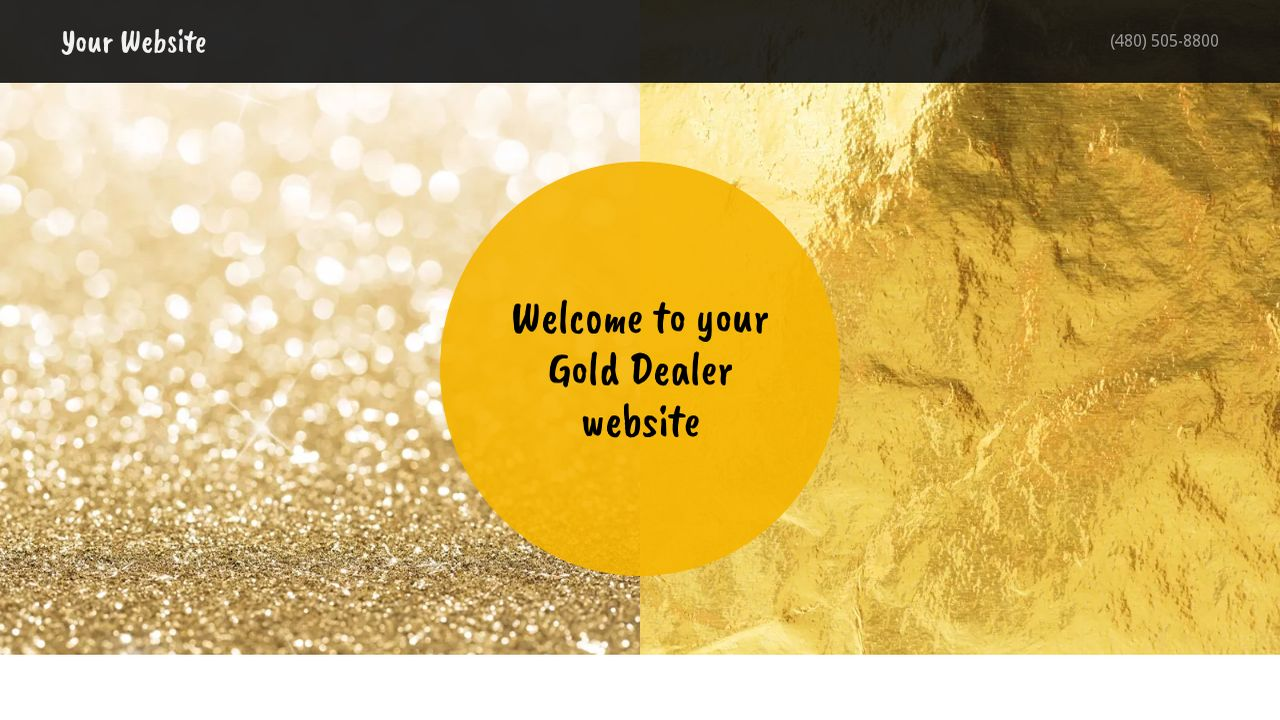 Gold Dealer Website: Example 8