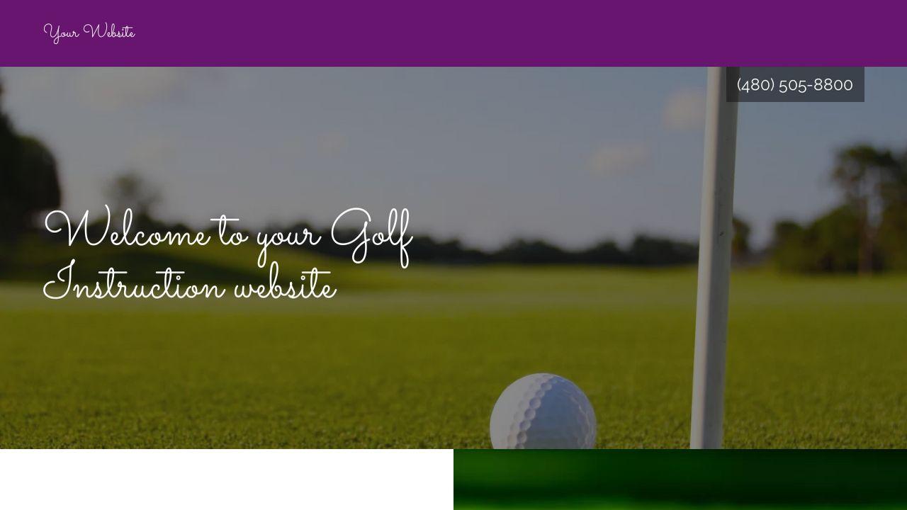 golf instruction website templates godaddy. Black Bedroom Furniture Sets. Home Design Ideas