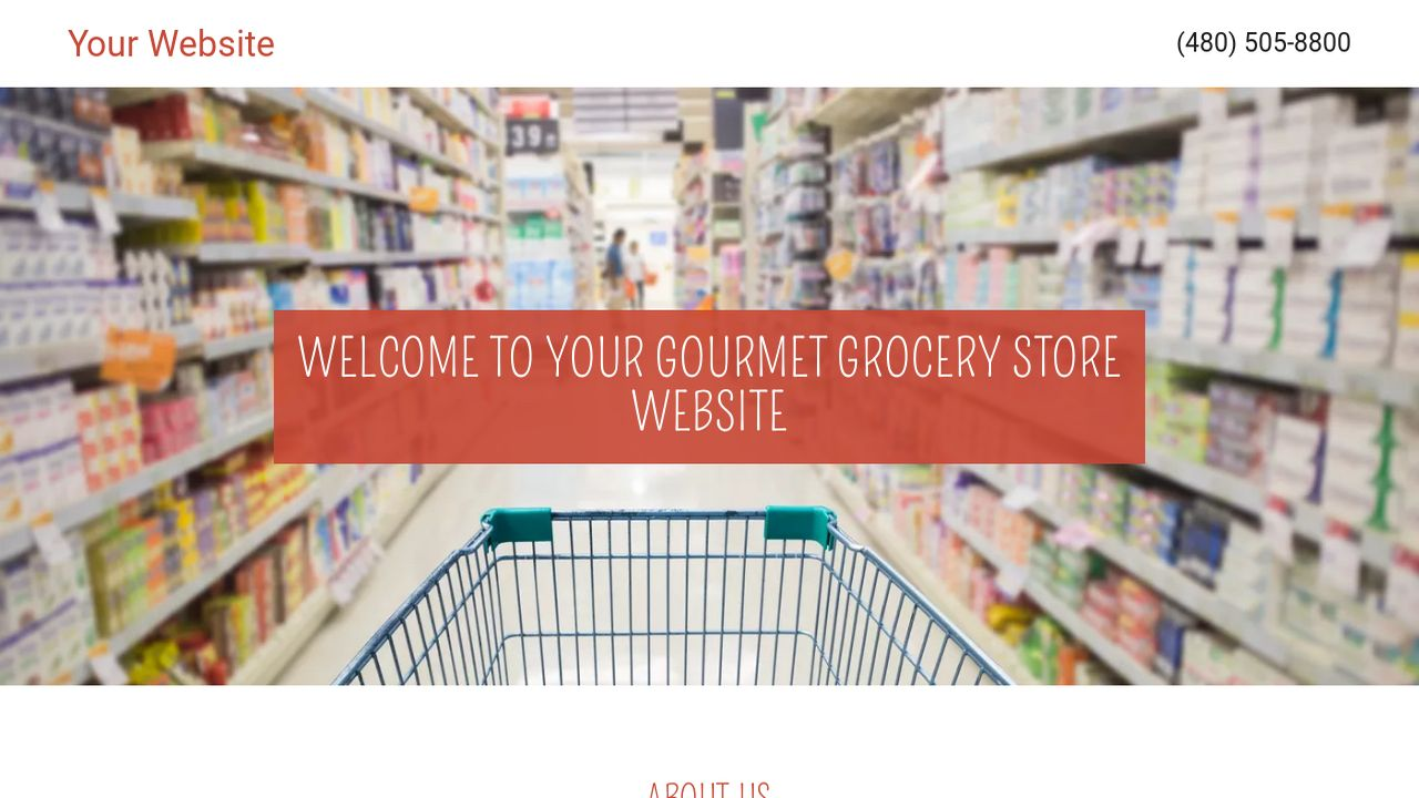 Gourmet Grocery Store Website Templates – Grocery Templates