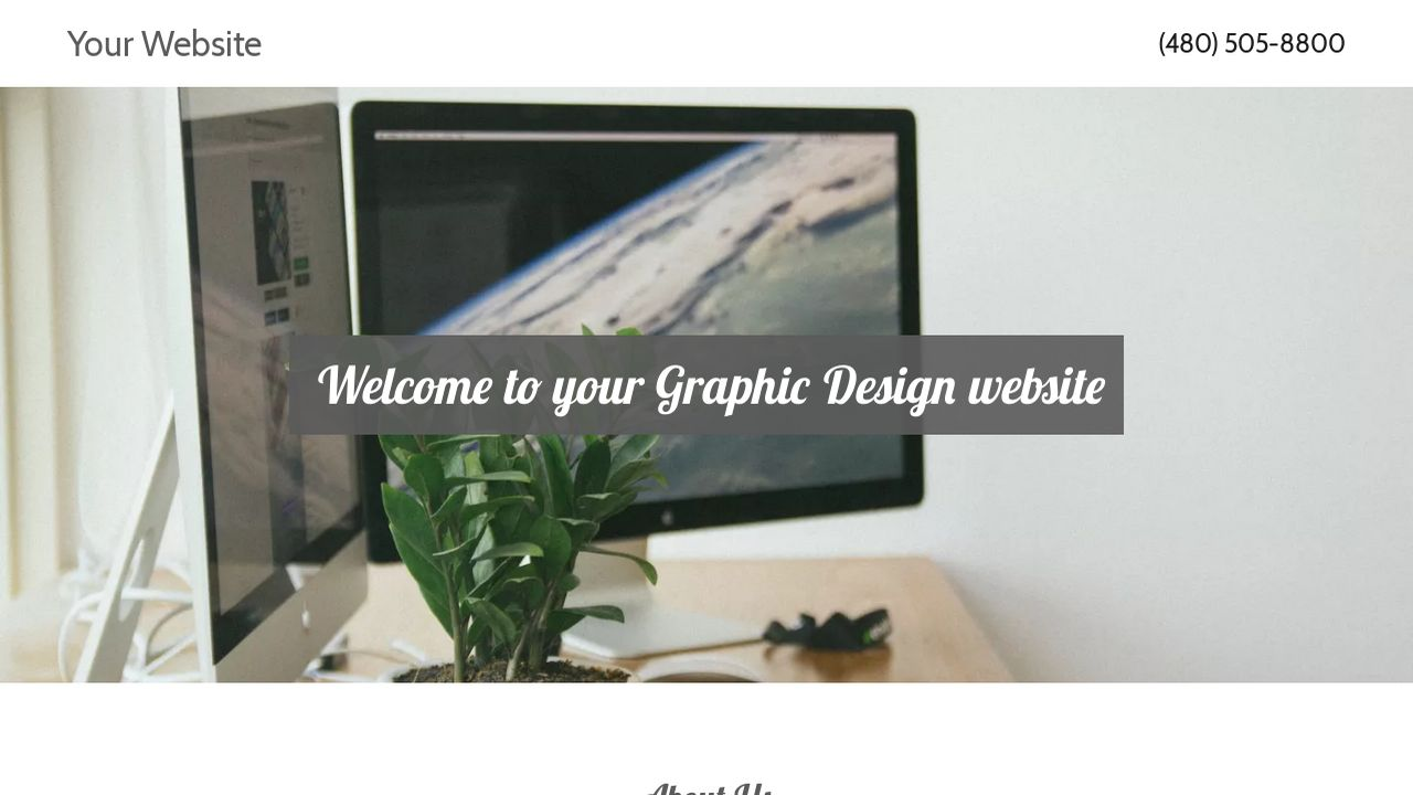 Graphic Design Website Templates   GoDaddy