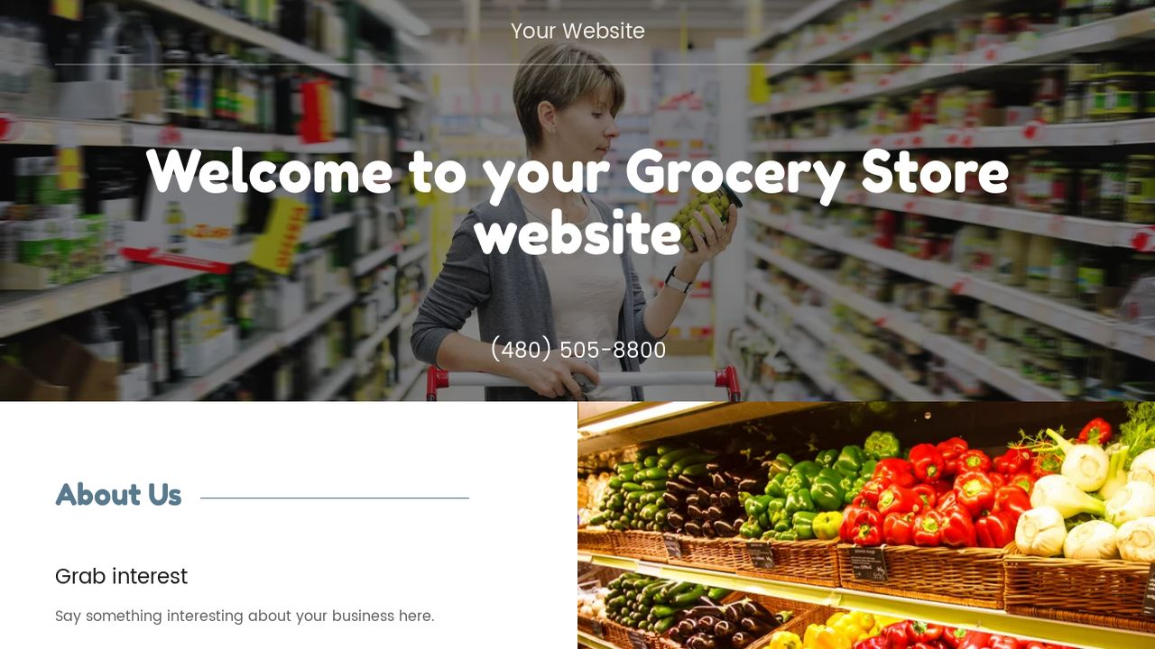 Grocery Store Website Templates | GoDaddy