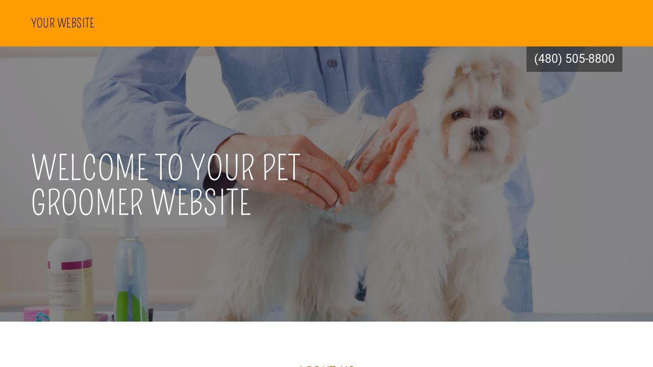 Pet Groomer Website Templates Godaddy