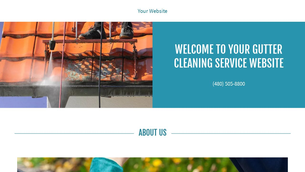 Gutter Cleaning Service Website Templates | GoDaddy