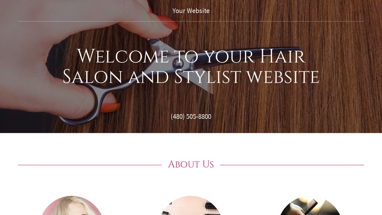 Hair Salon And Stylist Example 13