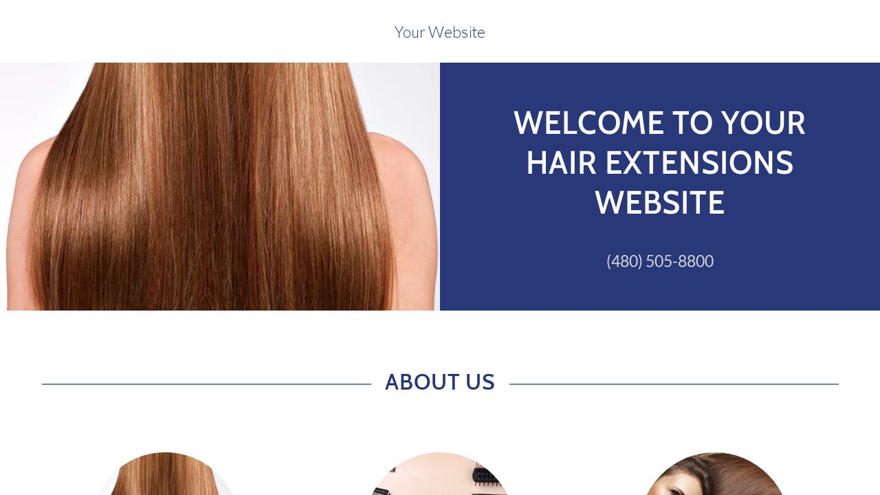 Hair extensions website templates godaddy hair extensions example 13 pmusecretfo Choice Image