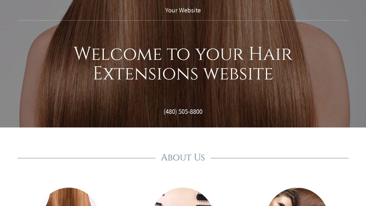 Hair extensions website templates godaddy hair extensions example 18 pmusecretfo Choice Image