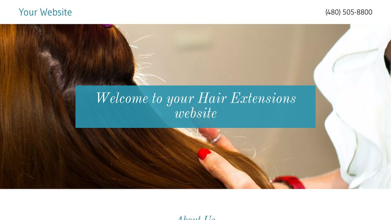Hair extensions website templates godaddy hair extensions example 2 pmusecretfo Choice Image