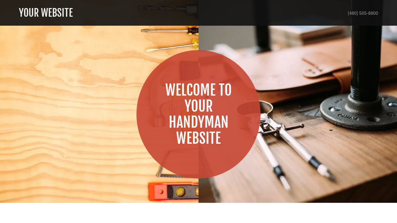 Handyman Website: Example 1