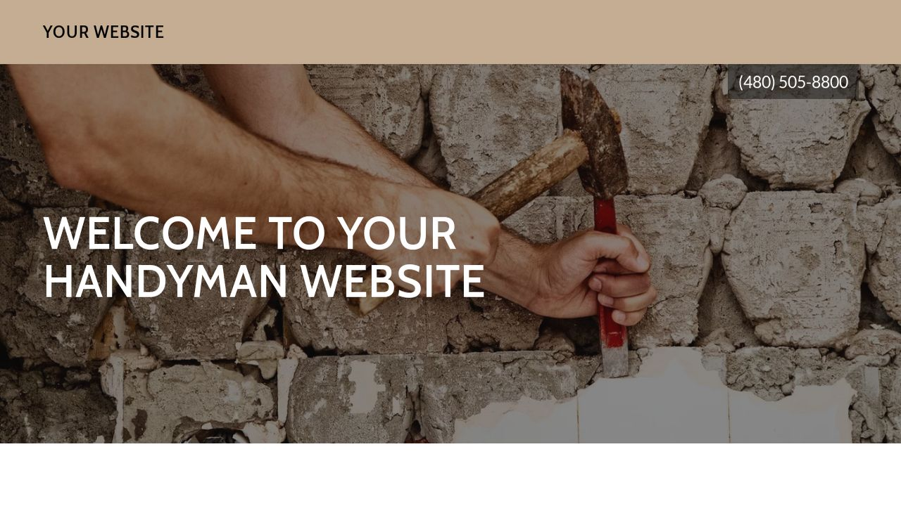Handyman Website: Example 10