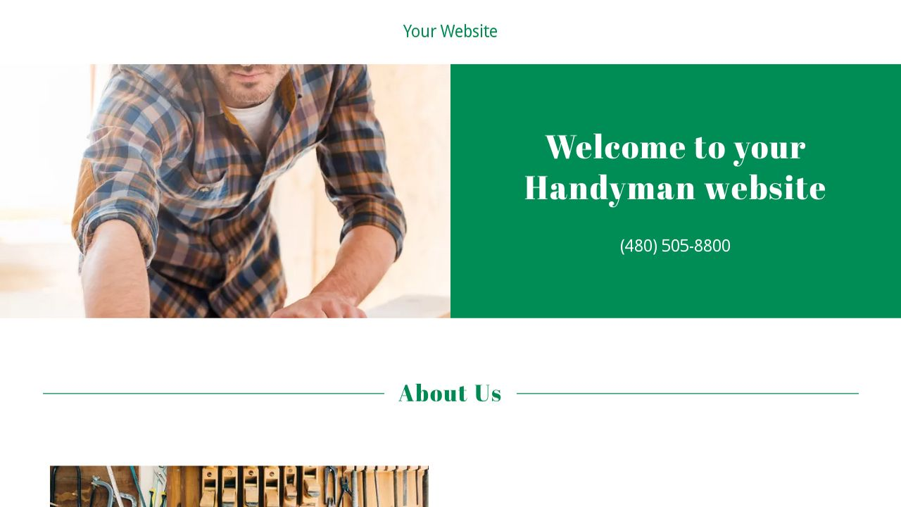 Handyman Website: Example 12