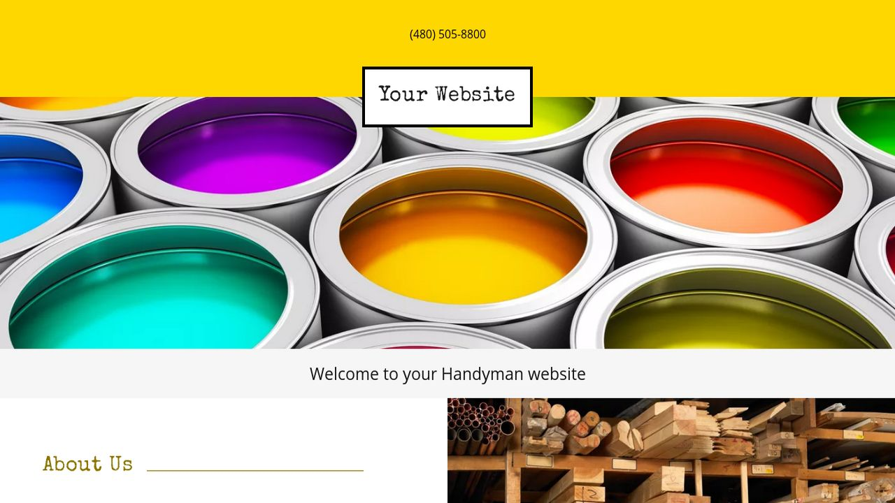 Handyman Website: Example 14
