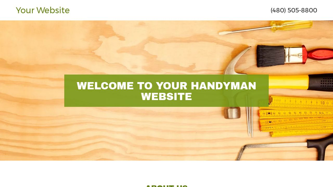Handyman Website: Example 16